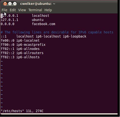 modify hosts files