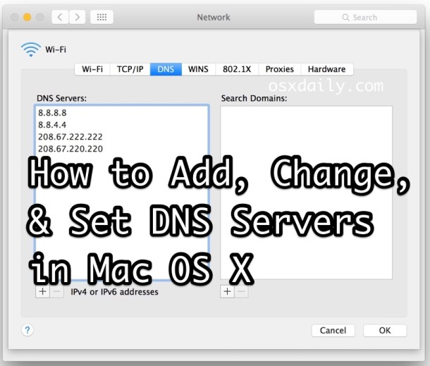 How to Change DNS Server Settings in Mac OS?