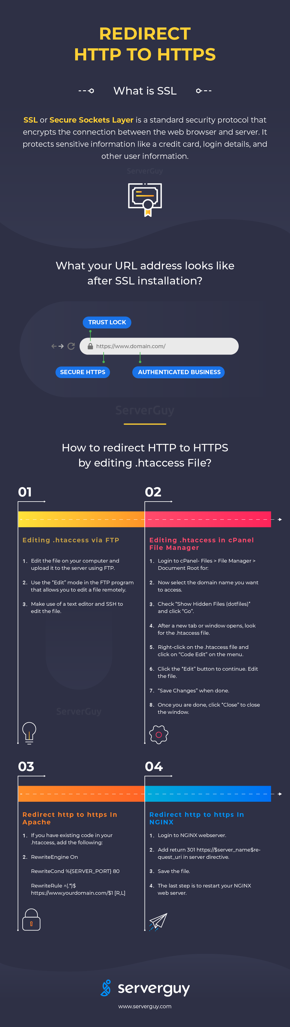 Force Redirect HTTP to HTTPS using htaccess