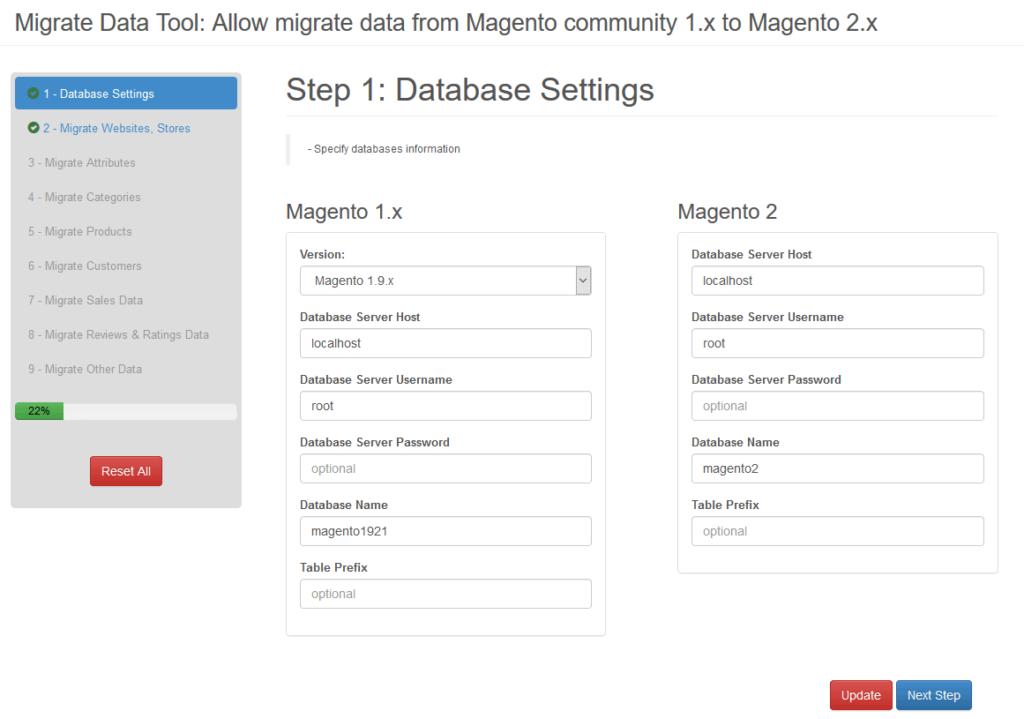 Migrate Magento 1 data to Magento 2