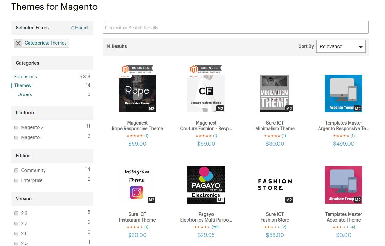 magento themes Magento vs Shopify