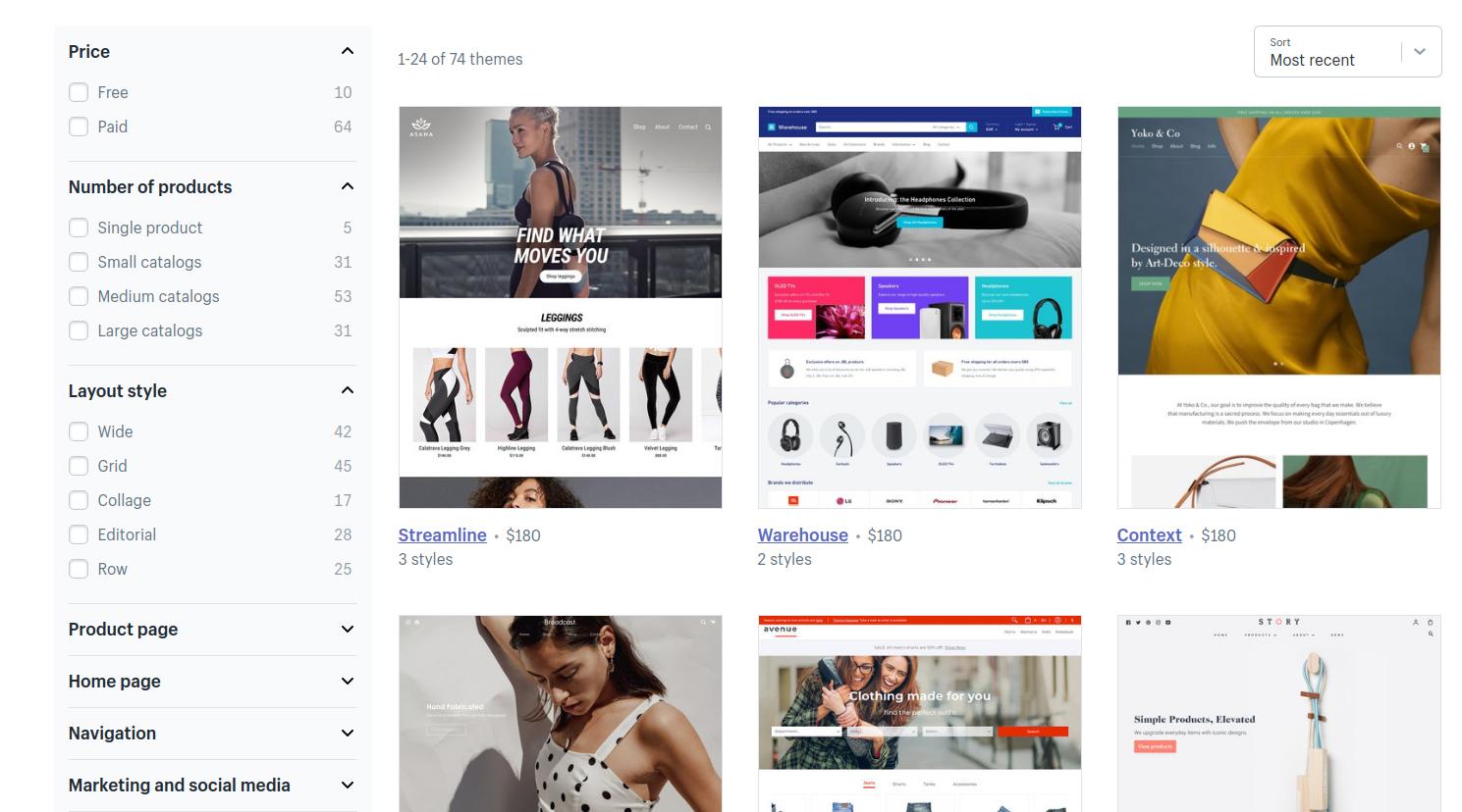 shopify themes Magento vs Shopify