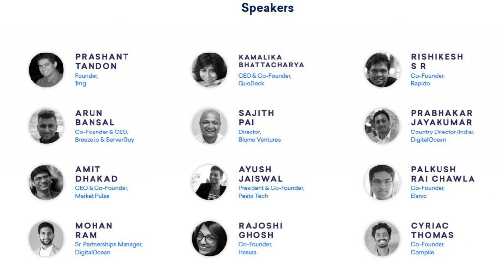 Speakers at DO Tide Delhi DigitalOcean Tide
