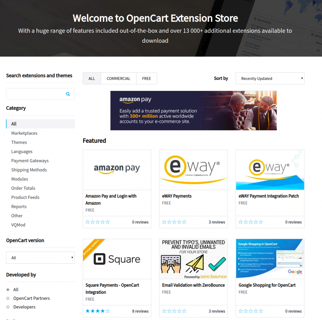 differences between opencart and magento