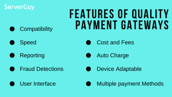 Features of best payment gateways