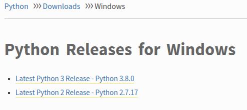 Version of Python