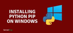 Install PIP on Windows