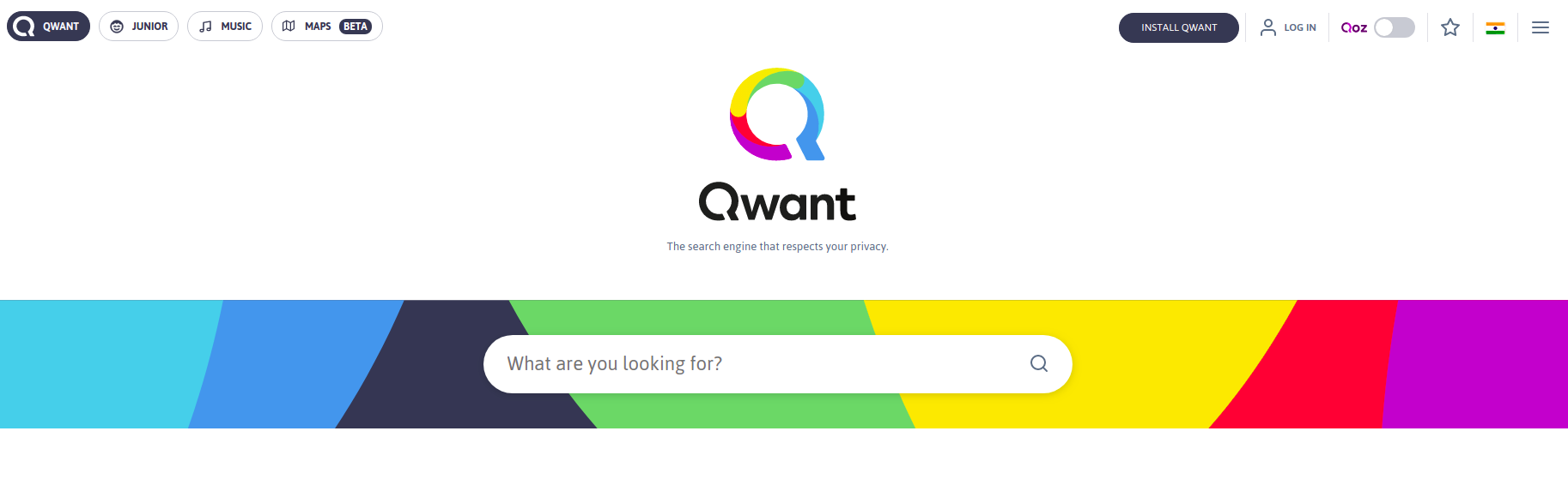 Qwant google alternative search engines