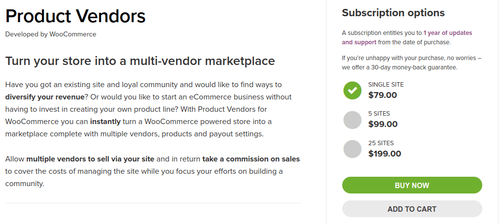 WooCommerce Product Vendors WooCommerce Multi Vendor Plugin