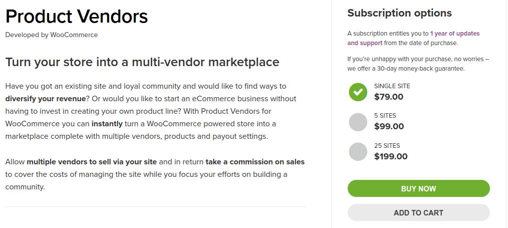WooCommerce Product Vendors WooCommerce Multi Vendor Plugin