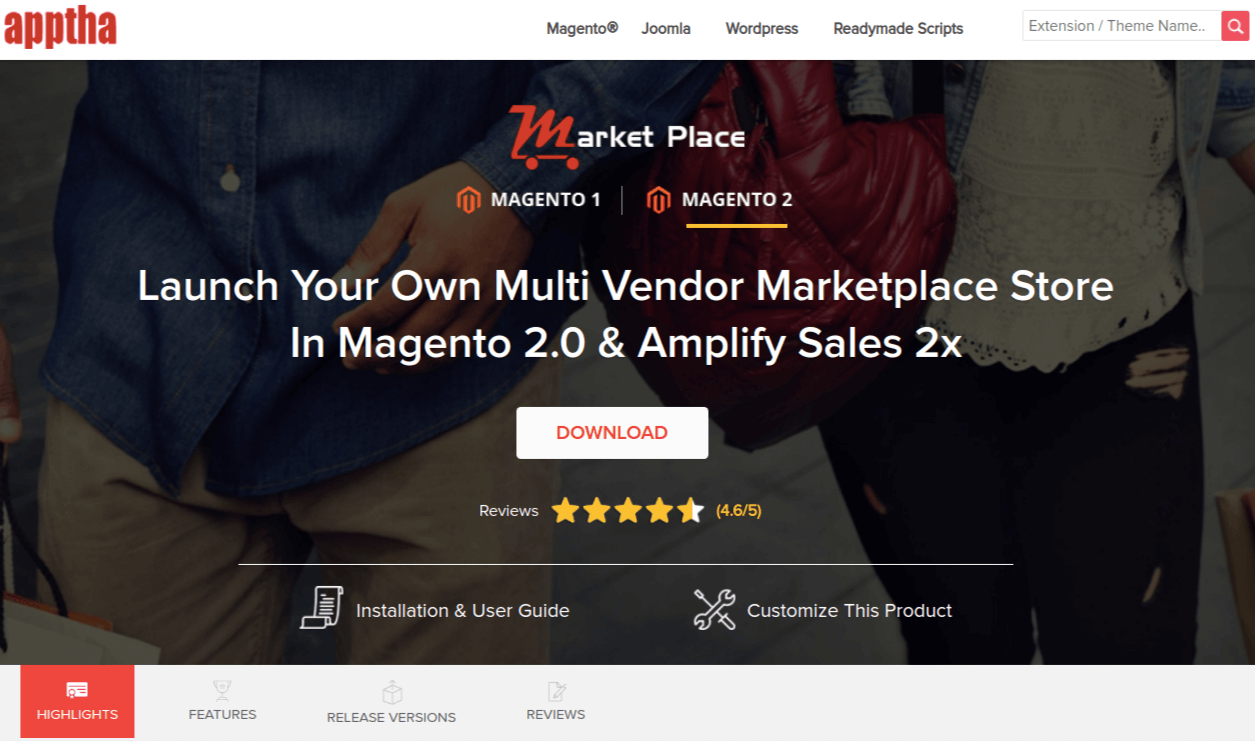 Magento 2 Marketplace Extension by Apptha