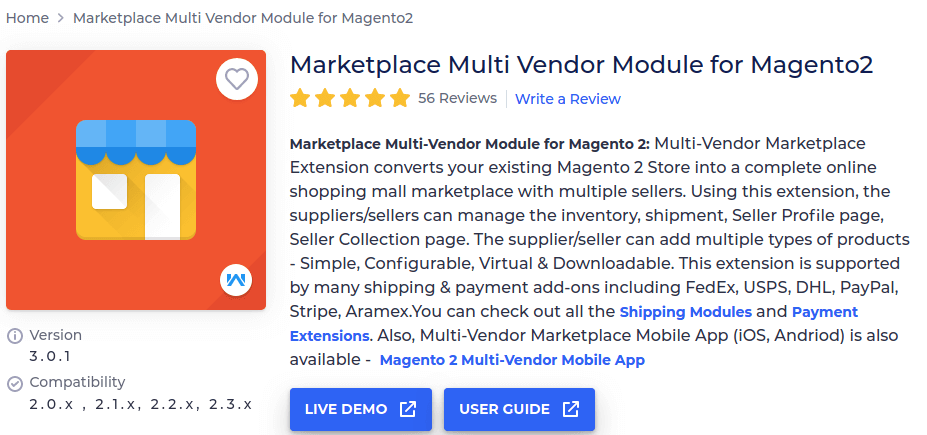 Marketplace Multi Vendor Module for Magento 2 by Webkul