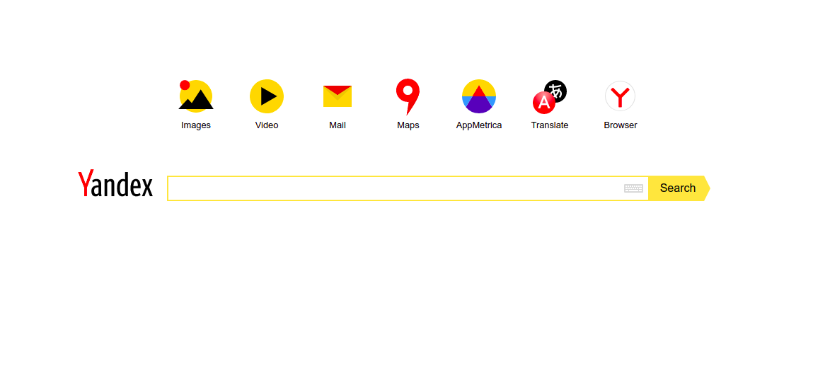 Search Engine other than Google : Yandex
