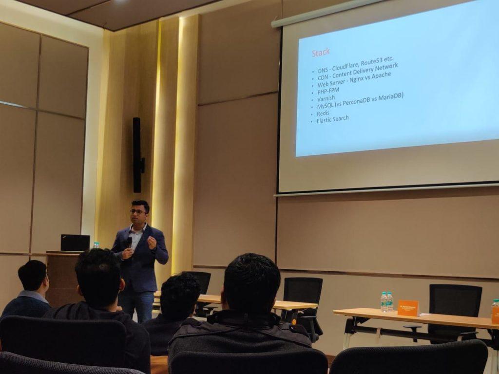 Arun Bansal speaking about Scaling Magento
