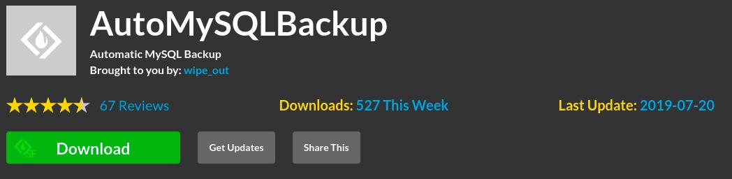 automysqlbackup backup mysql database