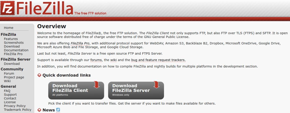 FileZilla FTP Client for mac