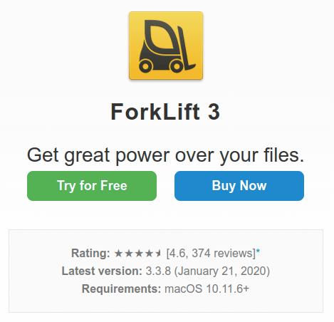ForkLift best premium ftp client for mac