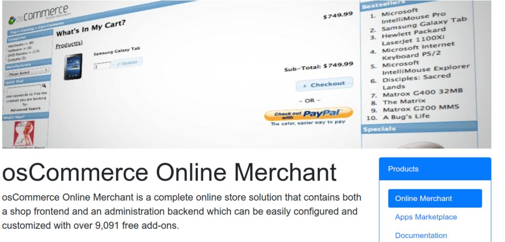 Open Source eCommerce Platform