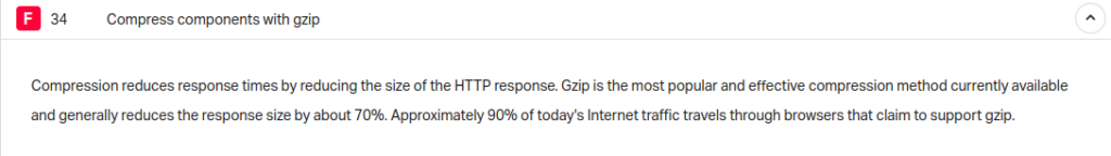 enable gzip compression pingdom tool