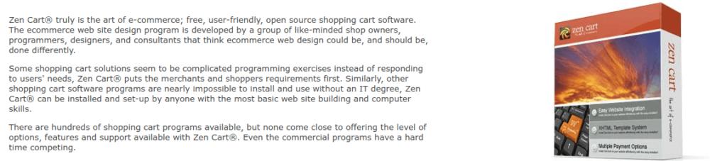 ZenCart PHP eCommerce Software