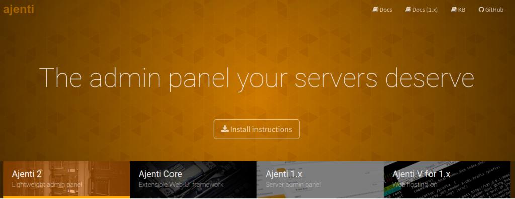 Ajenti Web panel