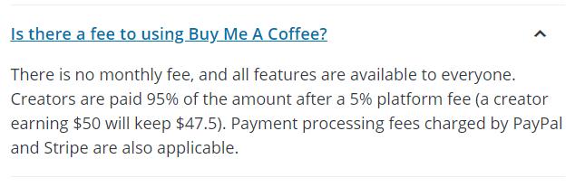buy me a coffee pricing tip jar