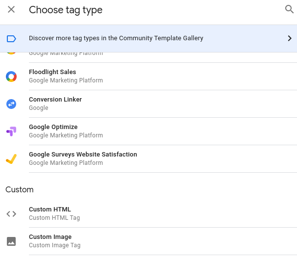 configure tag 1 Google Tag Manager