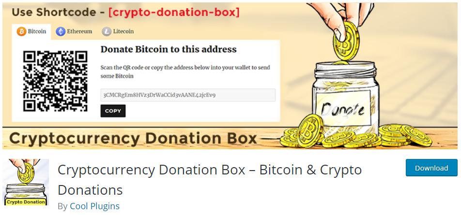 Cryptocurreny Donation Box
