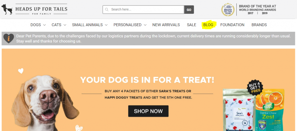 Dog Site Example