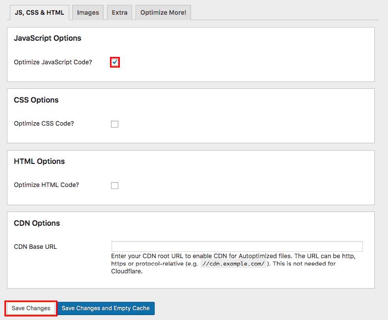 Optimize JavaScript