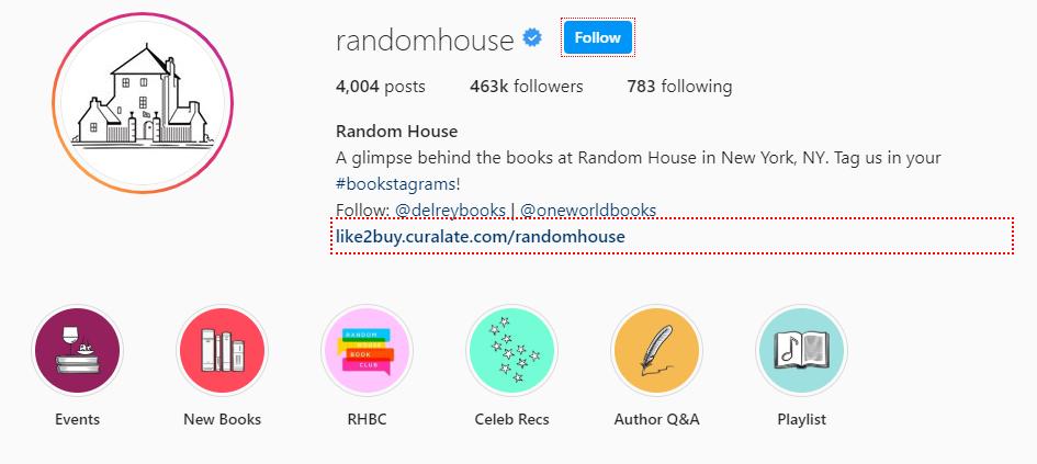 Random House Instagram
