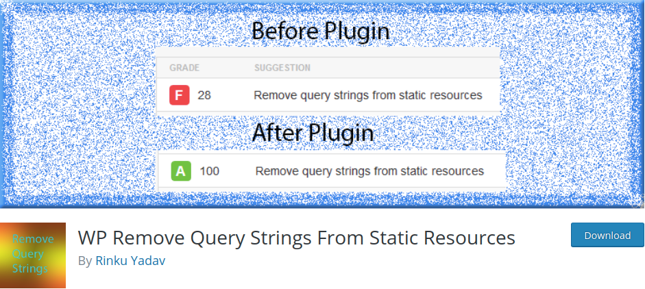 Remove Query Strings From Static Resources GTmetrix Speed Test