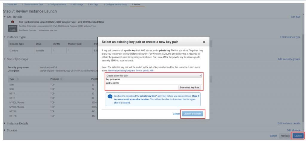 screencapture8 console aws amazon com ec2 v2 home 1589878093618 how to install magento on aws