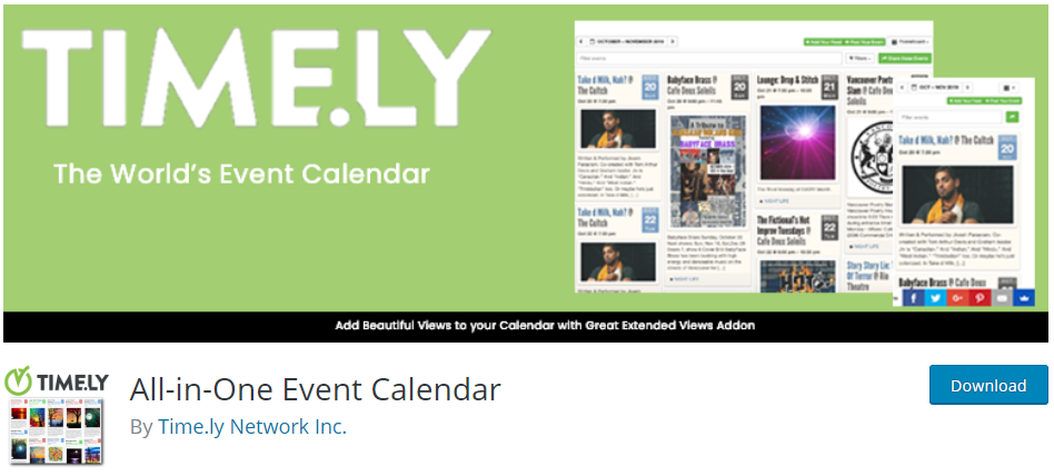 All-in-One Event Calendar WordPress Plugins for Event Registration