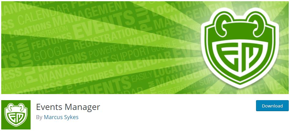 Events Manager WordPress Plugins for Event Registration