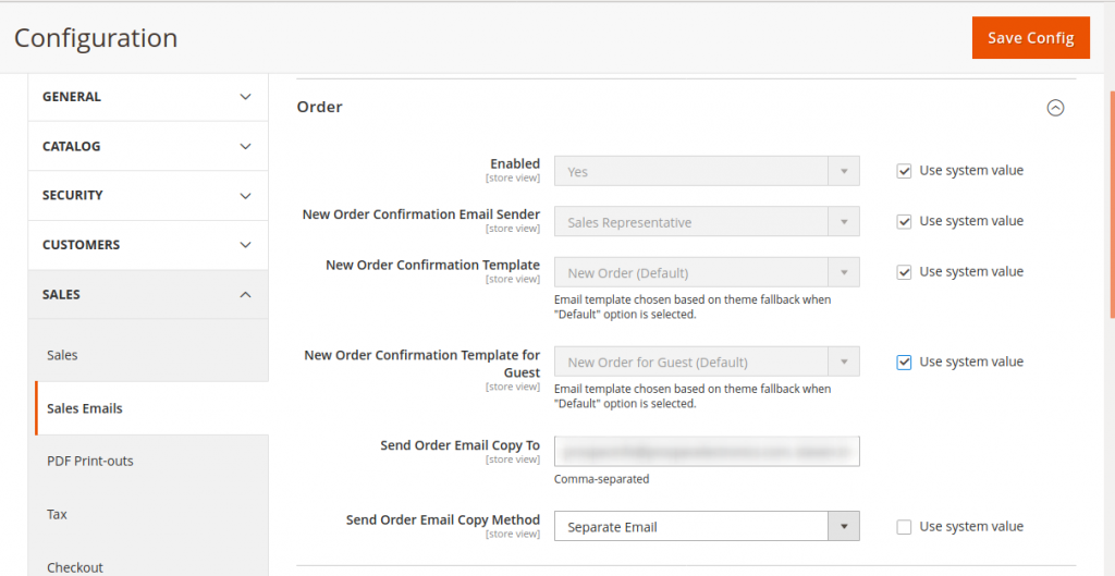 magento 2 email setting setup smtp