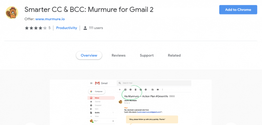 murmure gmail add-ons