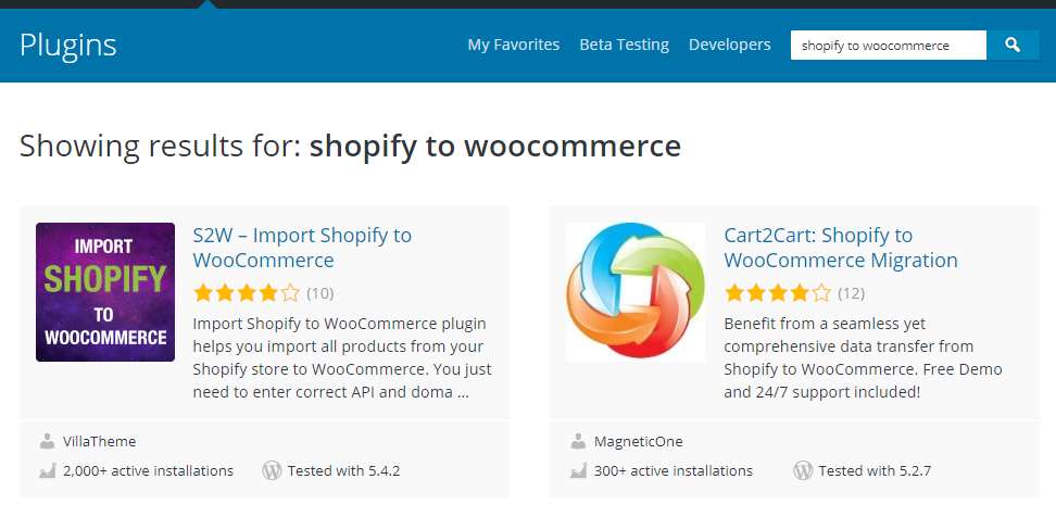 Shopify to WooCommcerce