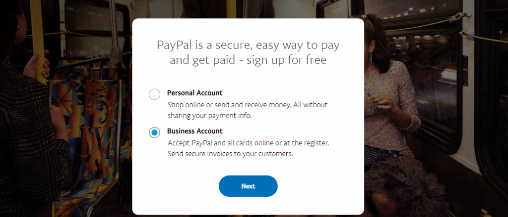 paypal byusiness account 1 PayPal Integration in PHP