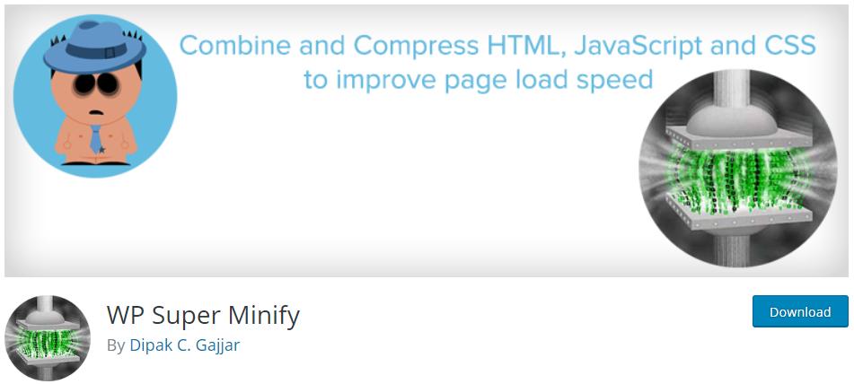 wp super minify Minify JavaScript