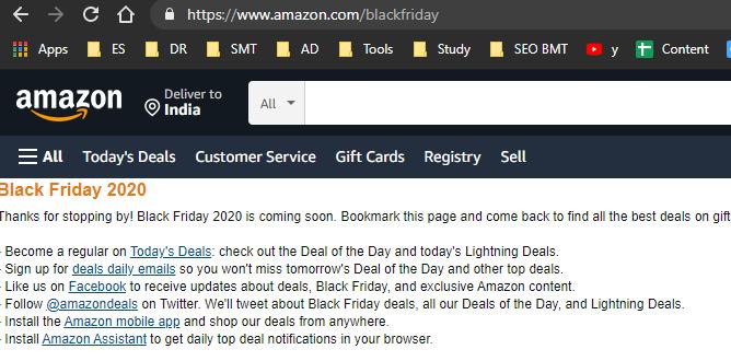 BF Page Amazon festival season sales