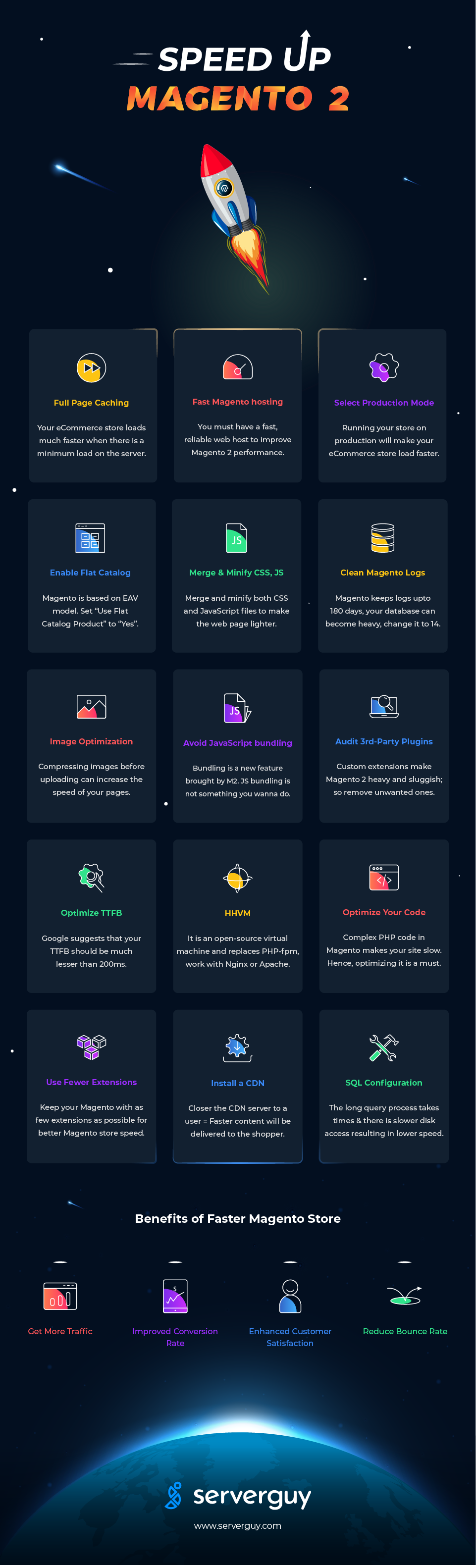 tips to speed up magento 2 infographic