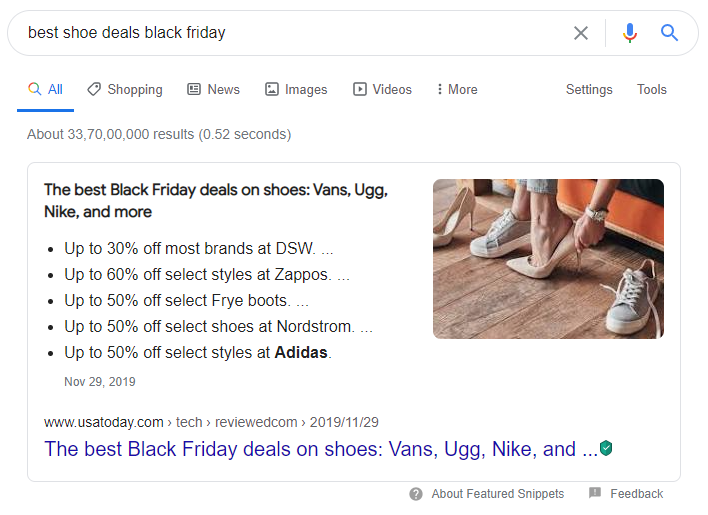 shoe google deals Post Holiday Marketing