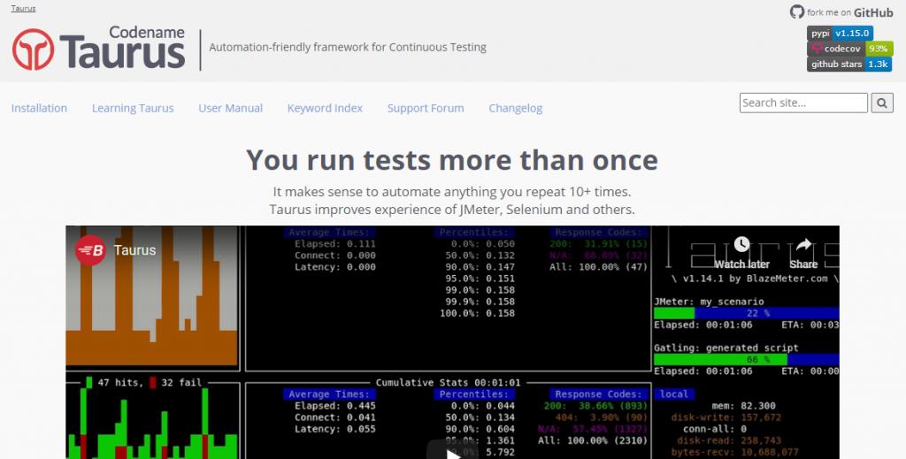Taurus Open Source Load Testing Tools