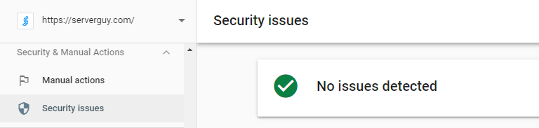 Search Console Warning
