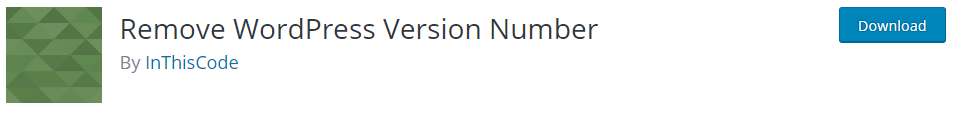 Hide WordPress Version Number Plugin