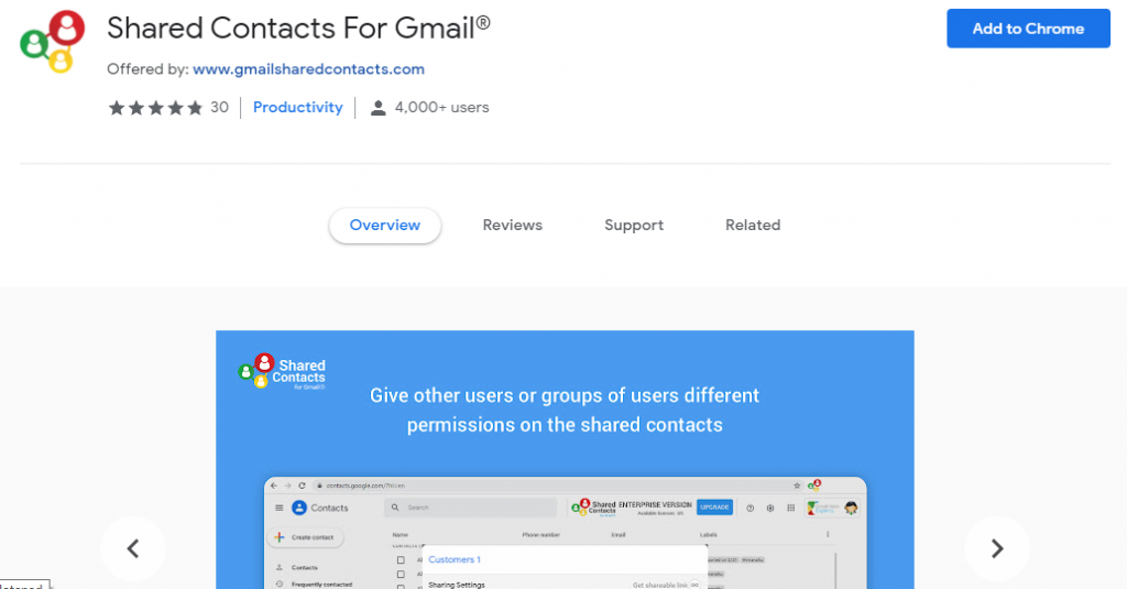 Shared Contacts for Gmail gmail add-ons