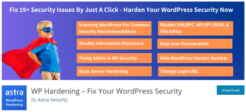 WP Hardening Fix your WordPress Security