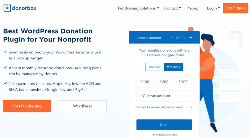 DonorBox Tip Jar Plugin for WordPress tip jar