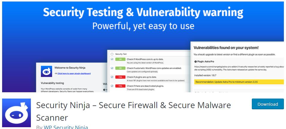 Ninja Security Firewall WordPress Plugin